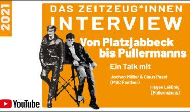 Von Platzjabbeck bis Pullermanns – Couchgespräch mit J. Müller, C. Pasel u. H.Leißnig