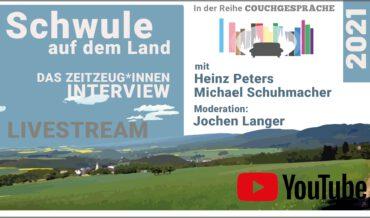 Schwule auf dem Land –  ein Couchgespräch mit M.Schumacher, H.Peters u. J.Langer